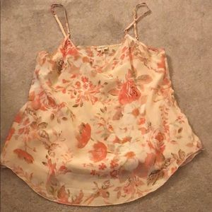 Wilfred silk floral top size small - Aritzia
